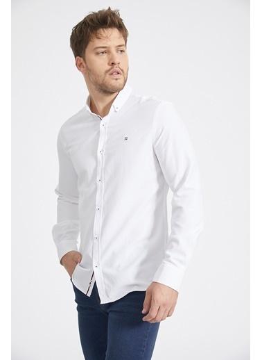 Avva Erkek  Armürlü Gömlek A02Y2024 Beyaz